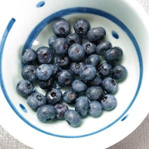 畑のブルーベリーを使って。