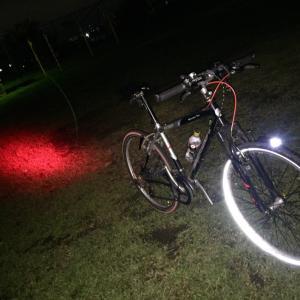 夜間走行のライト点灯お忘れなく!でもフロントに赤ランプはダメよダメダメ!