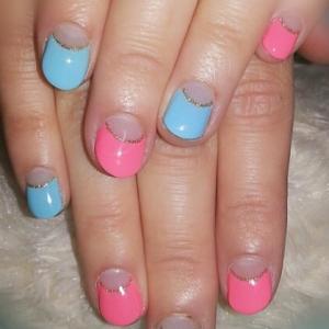 pink × blue !!