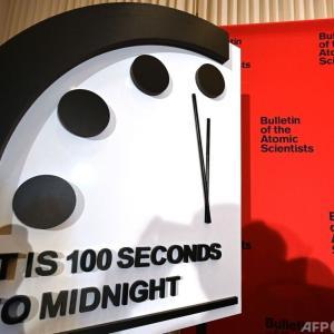 終末時計「人類滅亡まであと100秒で針が止まったまま」