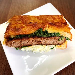 伊丹のお肉屋さんのハンバーガー