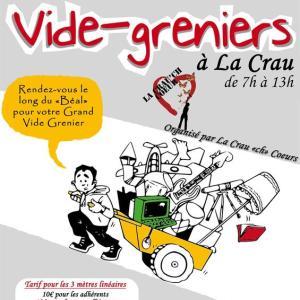 Vide Grenier à La Crau蚤の市フリーマーケット参加@南フランス