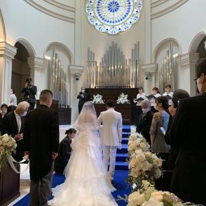 フットサルの後輩の結婚式