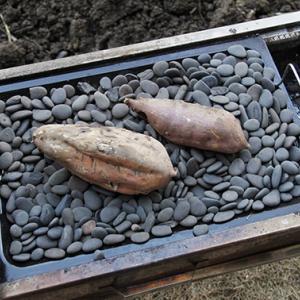 本格!石焼き芋を作ってみました