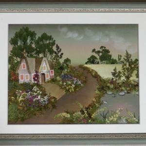 風景画 ヨーロッパの田舎道