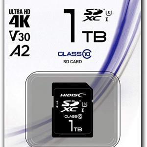 1TBのSDXC/microSDXCカードの価格動向