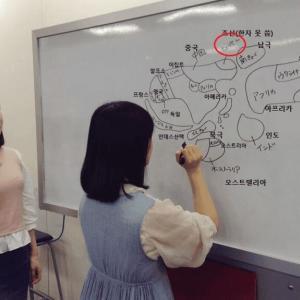 【画像あり】韓国人「朝鮮の隣に南極www」日本の女子高生が描いた世界地図がマジでヤバ過ぎる‥ 韓国の反応