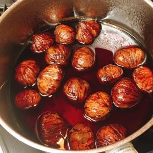 栗の渋皮赤ワイン煮を作ってみました♡