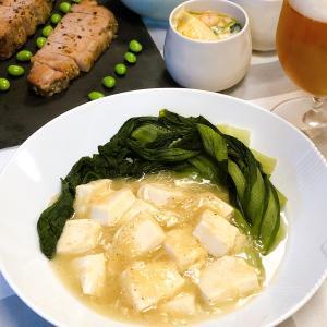 ホタテ缶で♪青梗菜と豆腐の中華風旨煮