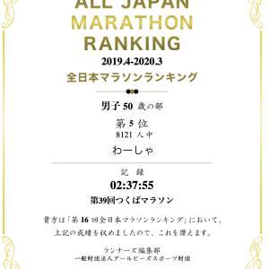 全日本マラソンランキング 男子50歳の部