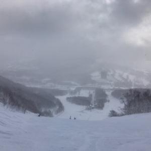 1月19日、ルスツスキー場 曇り&晴れ