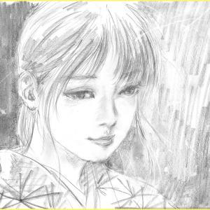 鉛筆画「蛍の火」