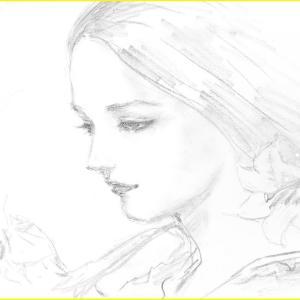 鉛筆ラフ「麗しのリリー」