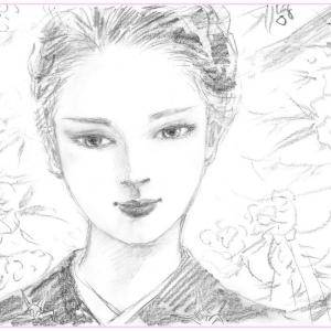 鉛筆ラフ「春陽」