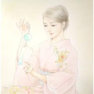 美人画「涼風」