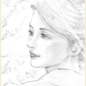 美人画ラフ「陽光」