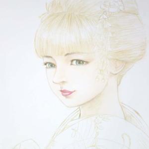 『金色の舞姫』 色塗りスタート