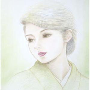 井手晴海の美人画「裏葉」