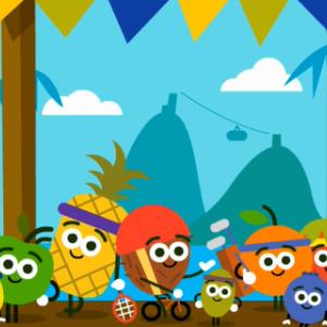 【Google】2016 Doodleフルーツゲーム 全ゲームのまとめとGoogleロゴ ★★★星3動画 #GoogleDoodle