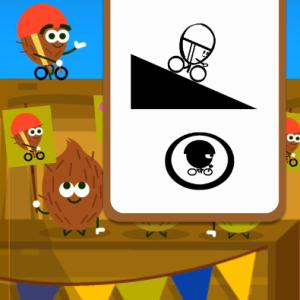 【Google】2016 Doodleフルーツゲーム(ココナッツにヘルメットは必要?)自転車ゲーム遊び方 ★★★星3をツイートしよう