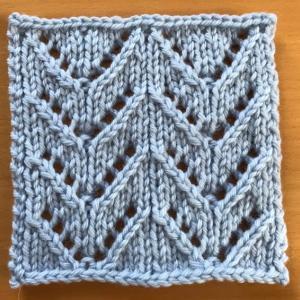 棒針編み入門科 2.透かし模様