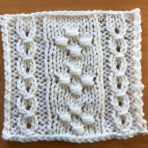 棒針編み入門科 4.ノット編みの模様