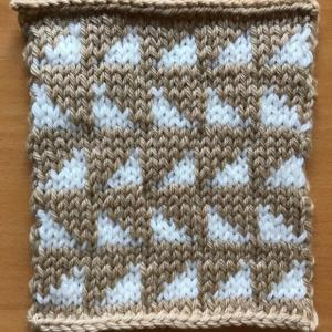 棒針編み入門科 7.横糸渡しの編み込み模様