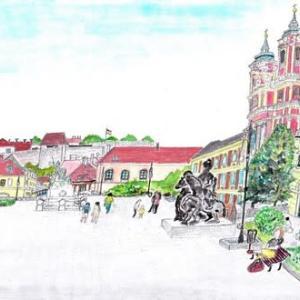ハンガリー東部エゲルの教会スケッチ