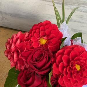 赤い花のウエディング♪