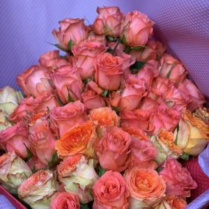 バラの花束・・・