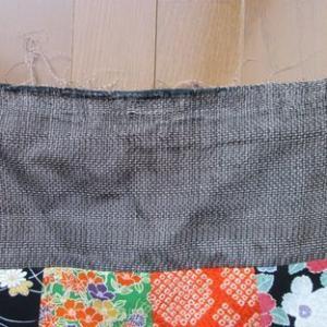 頂き物の手提げ袋を頂き物の布で補修