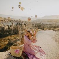 カッパドキアで気球とポートレイト撮影
