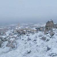 カッパドキア、今シーズン初雪/冬のカッパドキアの天気