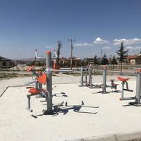 トルコの公園にあるスポーツジム