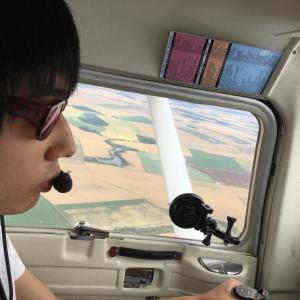 うちの子の操縦する飛行機で空中散歩