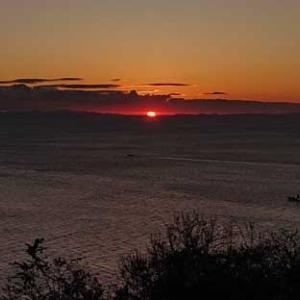 初日の出と五社めぐり風景
