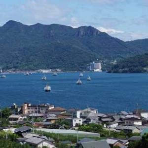 台風10号の小豆島風景