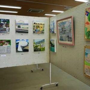 子供たちの絵が展示されました。