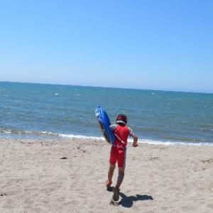 7歳5ヵ月、初めて海をナマで見たよ~!