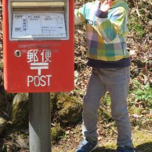 郵便ポストと背くらべ