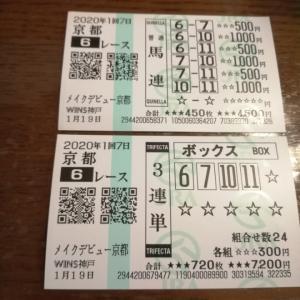 ギャンブル:競馬  1/19 第一回京都7日目 第6レース