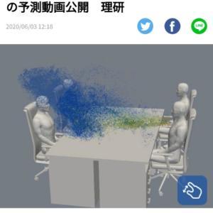 コロナ飛沫の飛び方は   スパコン富岳の予測動画公開/理研