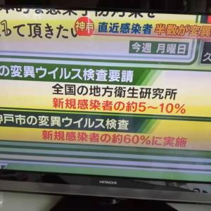 神戸市と変異株、2009年の新型インフルエンザの検証の成果か!