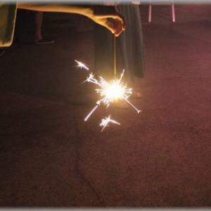 花火を楽しみました