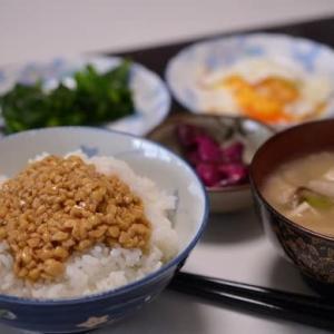 栄養満点、納豆飯を・・・