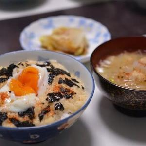 長芋と玉子の組み合わせの朝ご飯・・・