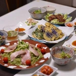 夕飯に、天ぷらが登場ですね