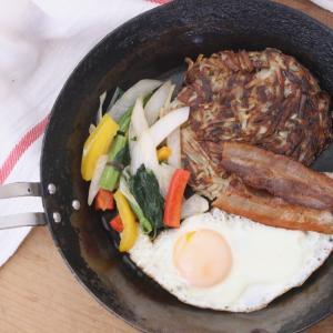 家で作れる!手作り簡単ハッシュブラウンで、フライパン朝ごはん。