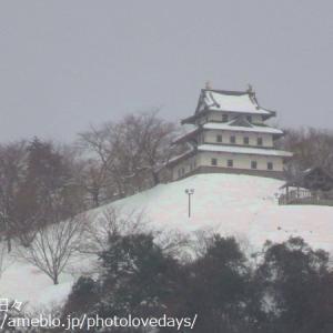 真冬の羽衣石城跡