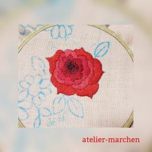 バラの刺繍